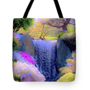 Waterfall Spring Colors Tote Bag