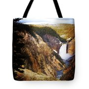 Waterfall Yellowstone 2 Tote Bag