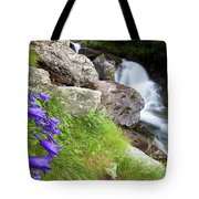 Waterfalls And Bluebells Tote Bag