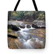 Waterfalls At Roaring River Stone Mountain Tote Bag