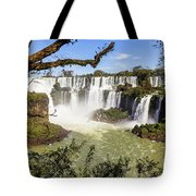 Waterfalls In Frame Tote Bag