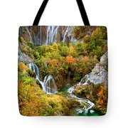 Waterfalls In Plitvice Lakes National Park Tote Bag