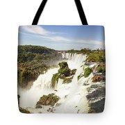 Waterfalls On Iguazu River Tote Bag