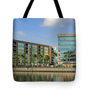 Waterfront Hotel Tote Bag