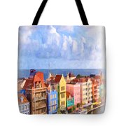 Waterfront Houses Tote Bag