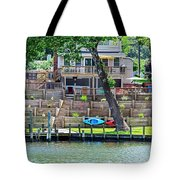 Waterfront Landscaping Tote Bag