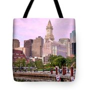 Waterfront Park Pink Tote Bag by Susan Cole Kelly