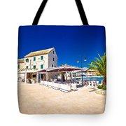 Waterfront Promenade Og Town Primosten Tote Bag