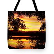 Waterfront Spectacular Sunset Tote Bag