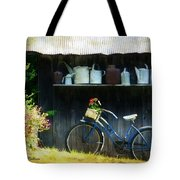 Watering Cans And Gerbera Daisies Tote Bag by Stephanie Calhoun