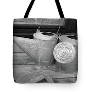 Watering Cans And Tubs B  W Tote Bag