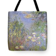Waterlilies, Cluster Of Grass Tote Bag