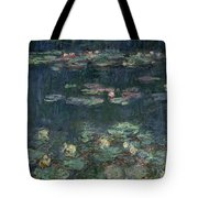 Waterlilies Green Reflections Tote Bag