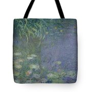Waterlilies Morning Tote Bag by Claude Monet