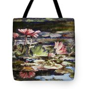 Waterlilies Tower Grove Park Tote Bag