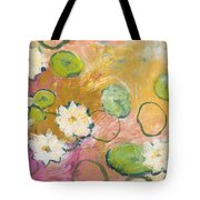Waterlillies At Dusk Tote Bag by Jennifer Lommers