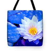 Blue Water Lily Tote Bag