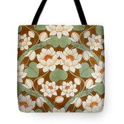 Waterlily Ogee Tote Bag