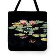 Waterlily Panorama Tote Bag