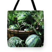 Watermelon In A Vegetable Garden Tote Bag by Lanjee Chee