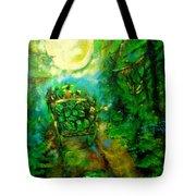 Watermelon Wagon Moon Tote Bag