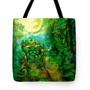 Watermelon Wagon Moon Tote Bag