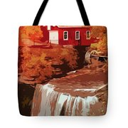 Watermill In Autumn Tote Bag