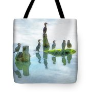 Watersky Birds Tote Bag