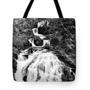 Water Slide Waterfall Bw Tote Bag
