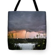 Waterspout Over Pass A Grill Tote Bag