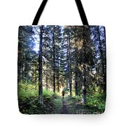 Waterton Valley Trail Detail - Glacier National Park Tote Bag