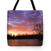 Waterville Sunrise Panorama 0002 0003 Signed Tote Bag