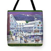Waterville Valley At Wintertime Tote Bag