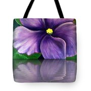 Watery African Violet Reflection Tote Bag