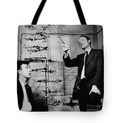 Watson And Crick Tote Bag by A Barrington Brown and Photo Researchers