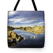 Watson Lake Panoramic 30x12 Tote Bag