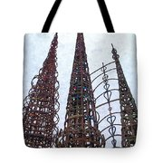 Watts Towers 2 - Los Angeles Tote Bag