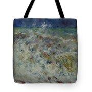 Wave At Sea Tote Bag