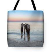 Wave Break At Sunrise. Tote Bag