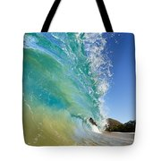 Wave Breaking At Makena Tote Bag