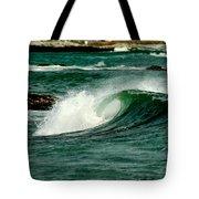 Wave Curl Tote Bag