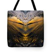 Wave Heart Tote Bag