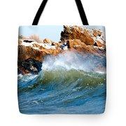 Wave Mirrors Rock Tote Bag