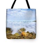 Wave Splash Tote Bag by Gary Gillette