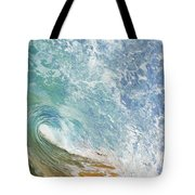 Wave Tube Along Shore Tote Bag
