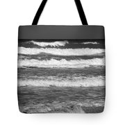Waves 3 In Bw Tote Bag