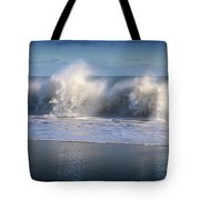 Waves Against The Wind Tote Bag