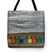 Waves And Beach Huts - Whitby Tote Bag
