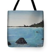 Waves And Pines Tote Bag