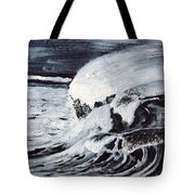 Waves At Night Tote Bag